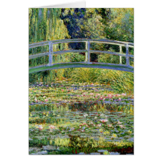 The Water-Lily Pond by Monet Fine Art Card