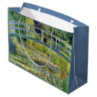 The Water-Lily Pond by Monet Fine Art Large Gift Bag
