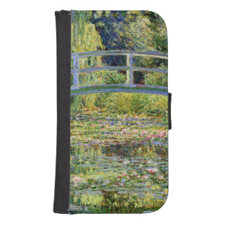 The Water-Lily Pond by Monet Fine Art Phone Wallets