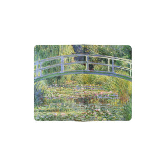 The Water-Lily Pond by Monet Fine Art Pocket Moleskine Notebook