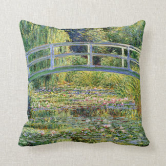 The Water-Lily Pond by Monet Fine Art Throw Pillow