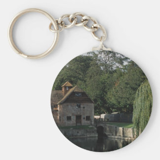 The Water Mill, Mapledurham, Oxford, England, U.K. Keychain