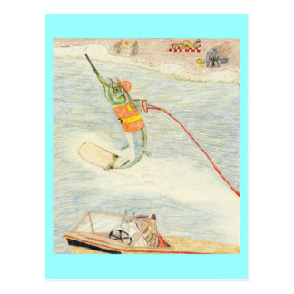 The Water Skier Postcard
