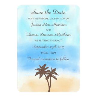 The Watercolor Beach Wedding Collection Card