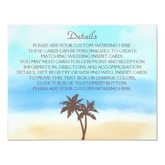 The Watercolor Beach Wedding Collection Card