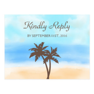 The Watercolor Beach Wedding Collection - RSVP Postcard