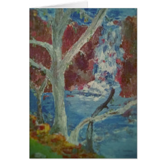The Waterfalls Keene N H Card