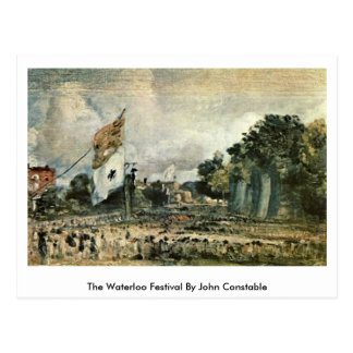 The Waterloo Festival By John Constable Postcard