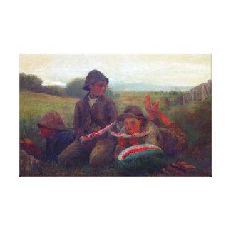 The Watermelon Boys - Homer Winslow Canvas Print
