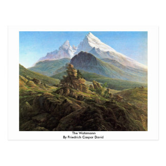 The Watzmann By Friedrich Caspar David Postcard
