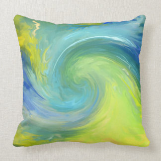 The Wave - abstract -Pillows designed Throw Pillow