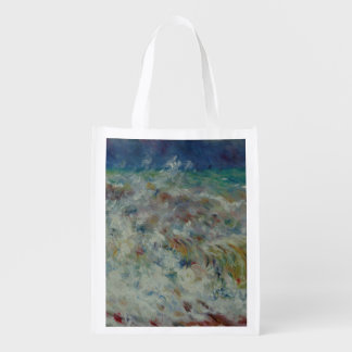 The Wave by Pierre-Auguste Renoir Reusable Grocery Bags