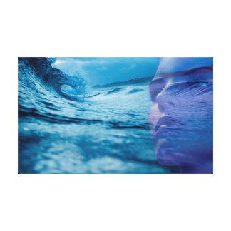 The wave of the life canvas print