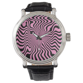 The Wave Pink & Black Watch
