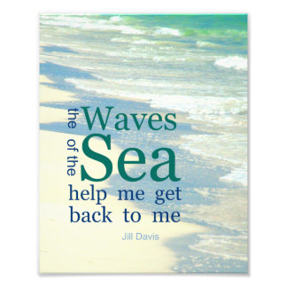 The Waves of the Sea Literary Quote Photo