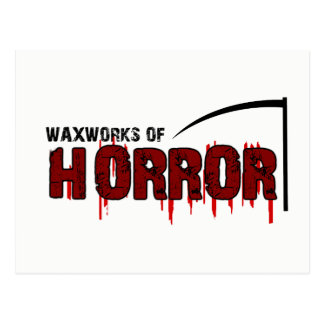 The Waxworks of Horror Postcard