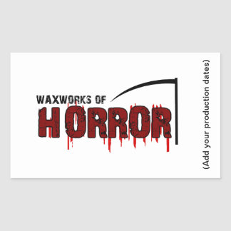 The Waxworks of Horror Sticker