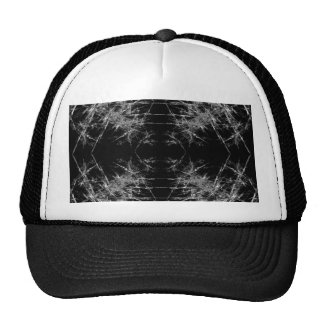 The Way In. Fractal Art. Monochrome Mesh Hat