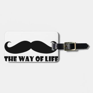The way of life luggage tag