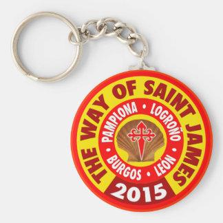 The Way of Saint James 2015 Basic Round Button Keychain
