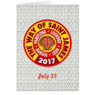 The Way of Saint James 2017 Card