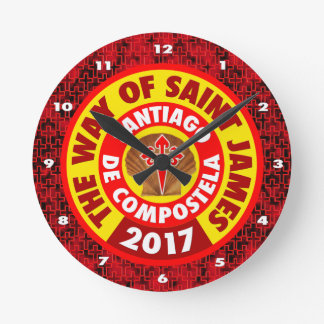 The Way of Saint James 2017 Round Clock