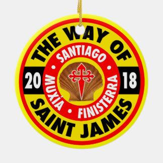 The Way of Saint James 2018 Ceramic Ornament