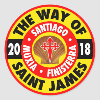 The Way of Saint James 2018 Classic Round Sticker