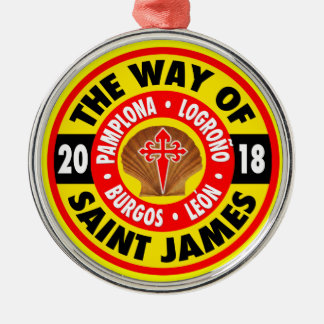 The Way of Saint James 2018 Metal Ornament