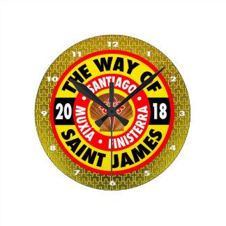 The Way of Saint James 2018 Round Clock