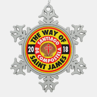 The Way of Saint James 2018 Snowflake Pewter Christmas Ornament