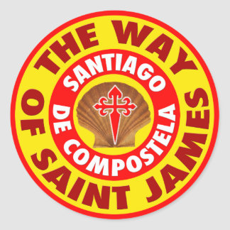 The Way of Saint James Classic Round Sticker