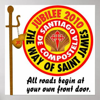 The Way of Saint James to Santiago de Compostela Poster