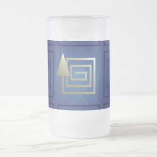 The way out frosted glass beer mug