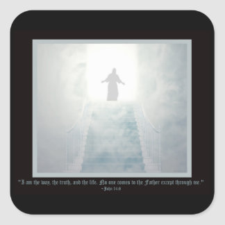 The Way Religious Square Sticker