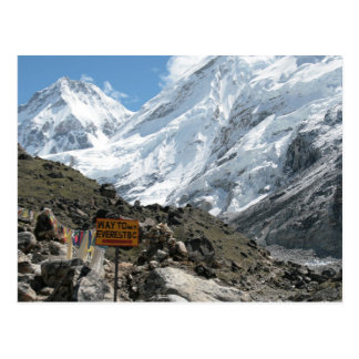 The way to Mount Everest Postcard