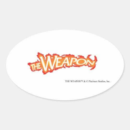 The Weapon - Platinum Studios Oval Sticker