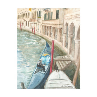 The Weary Gondolier Large Canvas Fine Art Print