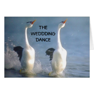 THE WEDDDING DANCE CARD