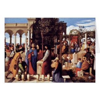 The Wedding At Cana By Julius Schnorr Von Carolsfe Card