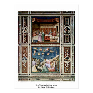 The Wedding At Cana Lower  By Giotto Di Bondone Postcard