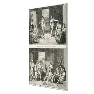 The Wedding Ceremony and the Manner of Divorce in Stretched Canvas Print