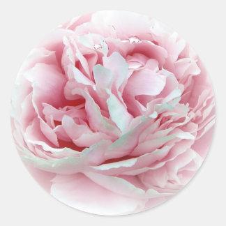 The Wedding Flower Envelope Seals Round Sticker