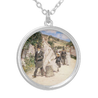 The Wedding March by Robinson, Vintage Newlyweds Round Pendant Necklace