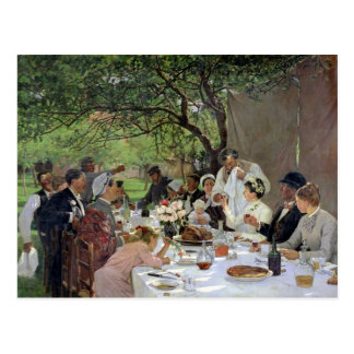 The Wedding Meal at Yport, 1886 Postcard