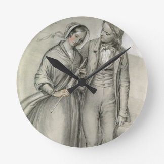 The Wedding Morning - The departure, c.1846 Wall Clocks