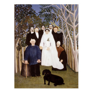 The Wedding Party by Henri Rousseau Postcard