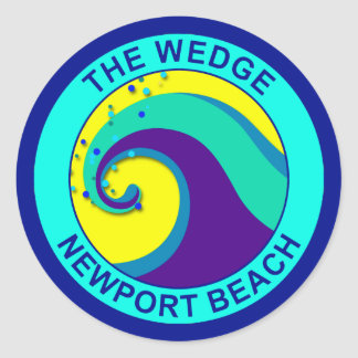 The Wedge, Newport Beach Classic Round Sticker
