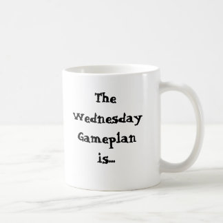 The Wednesday Gameplan is... Procrastinate Coffee Mug