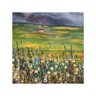 The Wee Hoose 6: I hear thunder Canvas Print